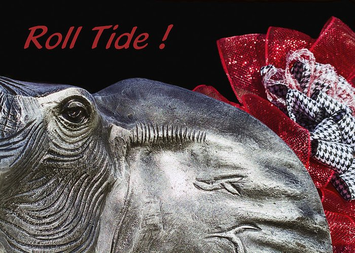 Alabama Football Greeting Card featuring the photograph Roll Tide - 14 Time National Champions by Kathy Clark