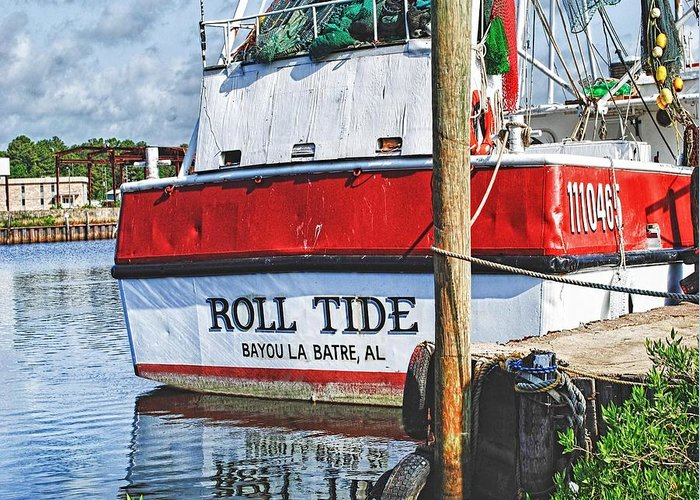 Water Greeting Card featuring the photograph Roll Tide Stern by Michael Thomas