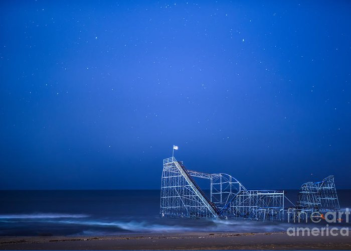 Starjet Greeting Card featuring the photograph Roller Coaster Stars by Michael Ver Sprill