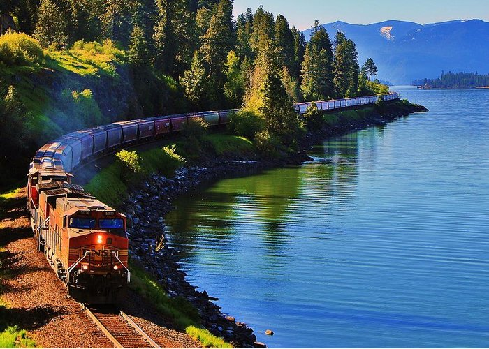 Freight Trains Greeting Cards