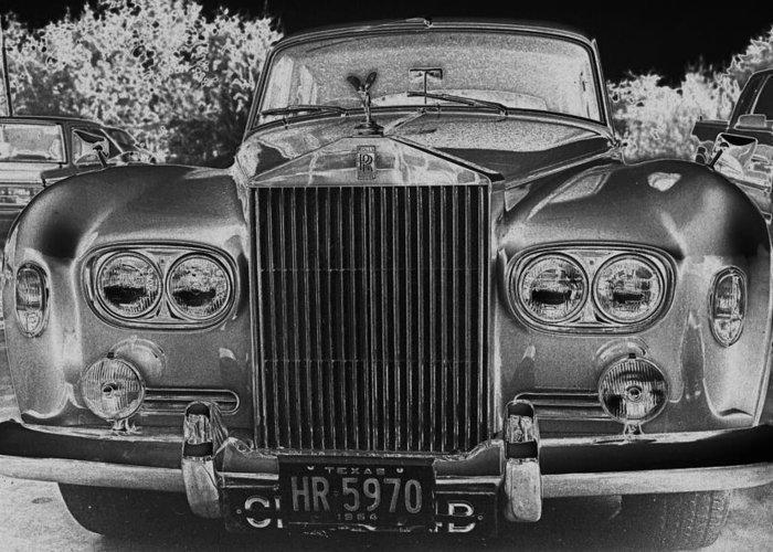 Rolls Royce Greeting Card featuring the photograph Rolls Royce Grill by Jim Smith