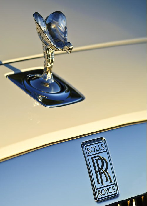 Rolls-royce Greeting Card featuring the photograph Rolls-royce Hood Ornament 3 by Jill Reger