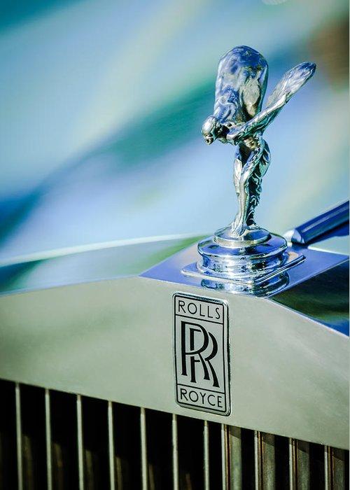 Rolls-royce Hood Ornament Greeting Card featuring the photograph Rolls-royce Hood Ornament -782c by Jill Reger