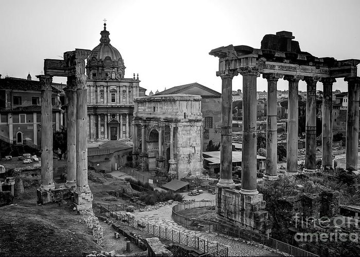 Rome. Italy Greeting Card featuring the photograph Roman Forum At Sunrise by Anthony Festa