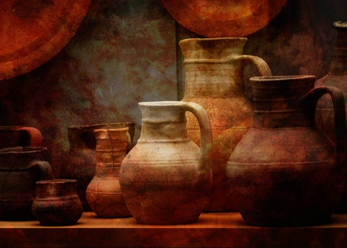 Conimbriga Greeting Card featuring the photograph Roman Pots by Richard Unsworth