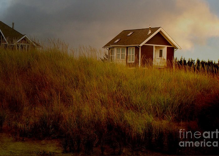 Cabin Photograph Greeting Card featuring the photograph Romantic Beach Getaway by Beverly Guilliams