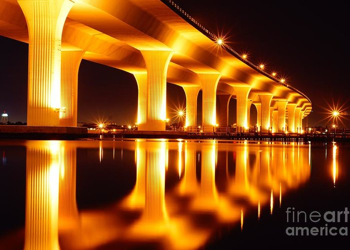 Bridge Greeting Card featuring the photograph Roosevelt Bridge by Lynda Dawson-Youngclaus