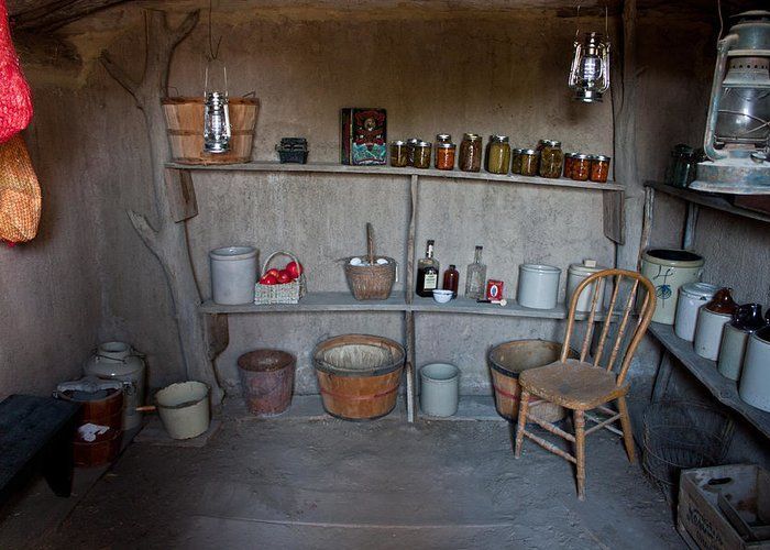 Prairie Greeting Card featuring the photograph Root Cellar by Claus Siebenhaar