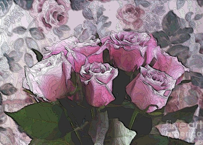 Roses Greeting Card featuring the digital art Rosario by Aimelle