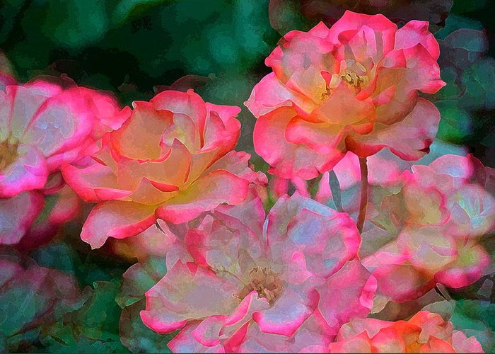 Floral Greeting Card featuring the photograph Rose 203 by Pamela Cooper
