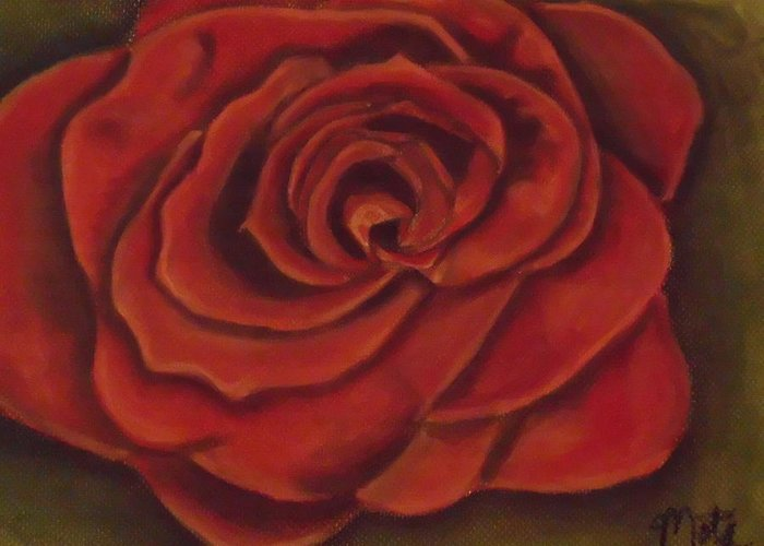 Rose Greeting Card featuring the pastel Rose by Kathy Mota