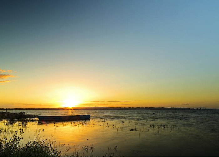 Sunset Greeting Card featuring the photograph Rosslare by Paul Flynn