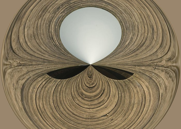 Anne Greeting Card featuring the photograph Round Wood by Anne Gilbert