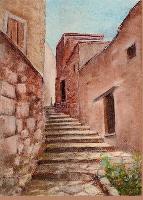 Old Greeting Card featuring the painting Roussillon Walk by Anastasiya Malakhova