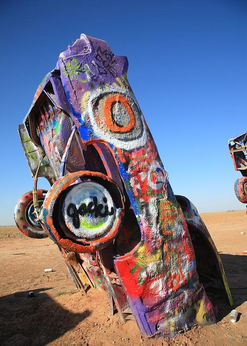 66 Greeting Card featuring the photograph Route 66 Cadillac Ranch by Frank Romeo