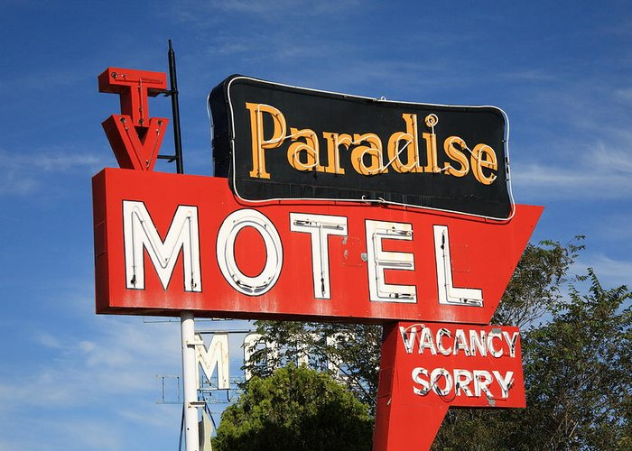 66 Greeting Card featuring the photograph Route 66 - Paradise Motel by Frank Romeo