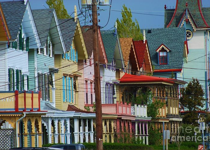 Americana Greeting Card featuring the photograph Row Of Color by Joseph Perno