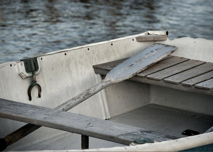 Rowboat Greeting Card featuring the photograph Rowboat by Charles Harden