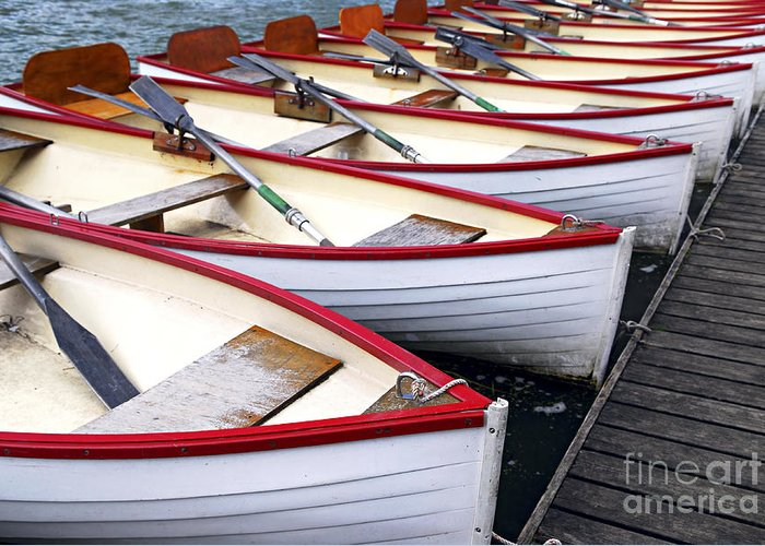 Boat Greeting Card featuring the photograph Rowboats by Elena Elisseeva