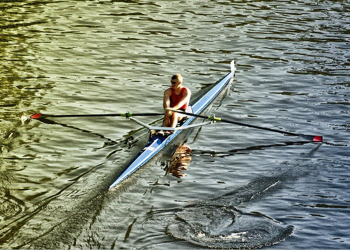 Rowing Crew Greeting Card featuring the photograph Rowing Crew by Bill Cannon