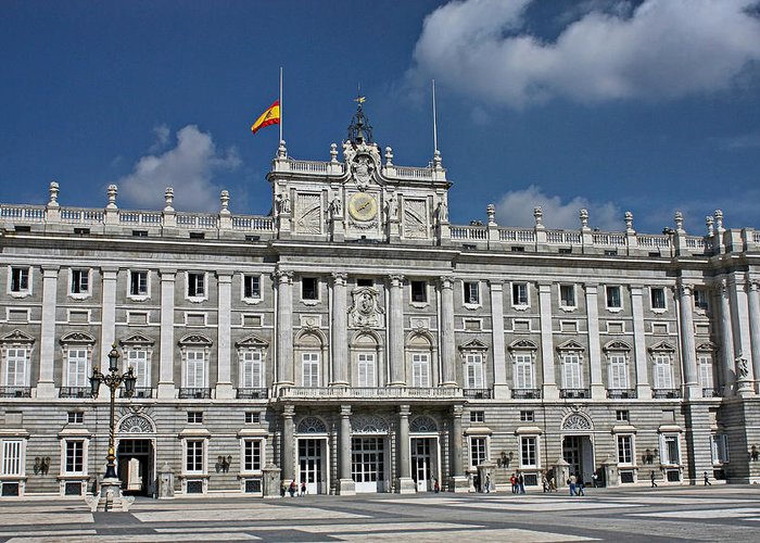 Royal Greeting Card featuring the photograph Royal Palace Of Madrid by Farol Tomson