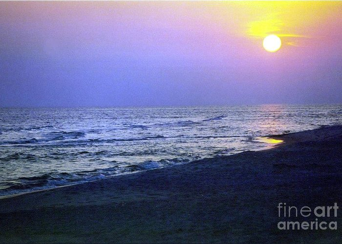 Sunset Greeting Card featuring the photograph Royal Sunset by Marilyn Detwiler