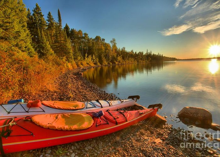 Isle Royale National Park Greeting Card featuring the photograph Royale Sunrise by Adam Jewell