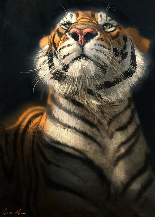 Tiger Greeting Card featuring the digital art Royalty by Aaron Blaise