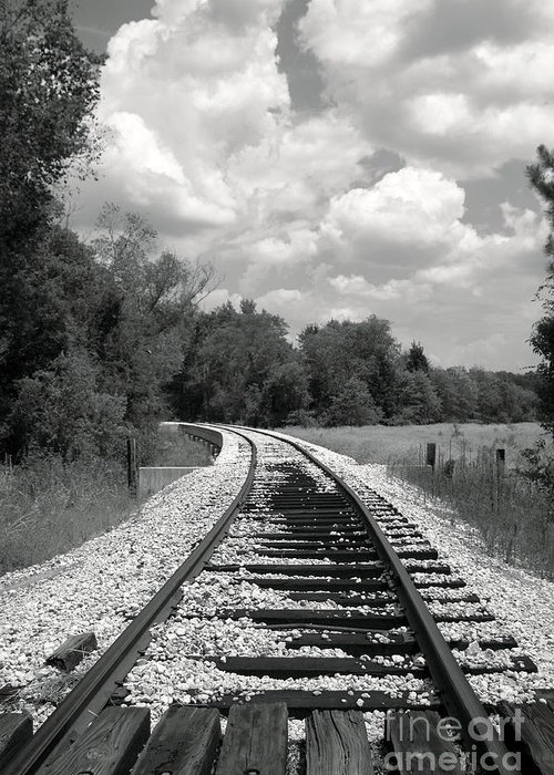 Rr Greeting Card featuring the photograph Rr X-ing by Robert Frederick