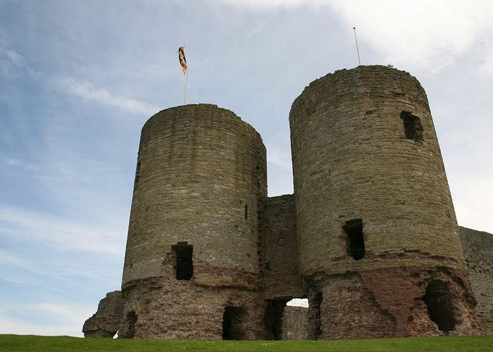 Castles Greeting Card featuring the photograph Ruddlan Castle by Christopher Rowlands