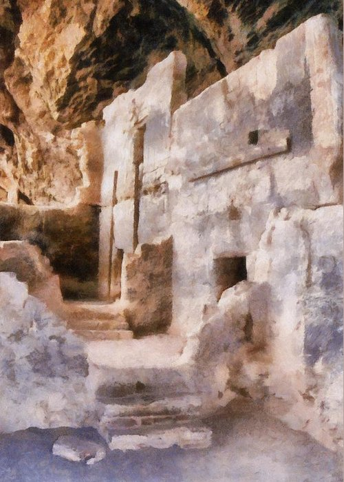 Indian Greeting Card featuring the photograph Ruins by Michelle Calkins