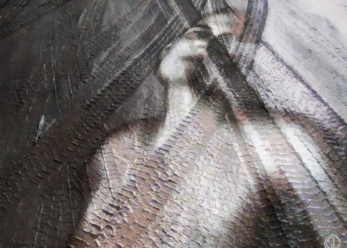 Woman Greeting Card featuring the digital art Run Over by Gun Legler