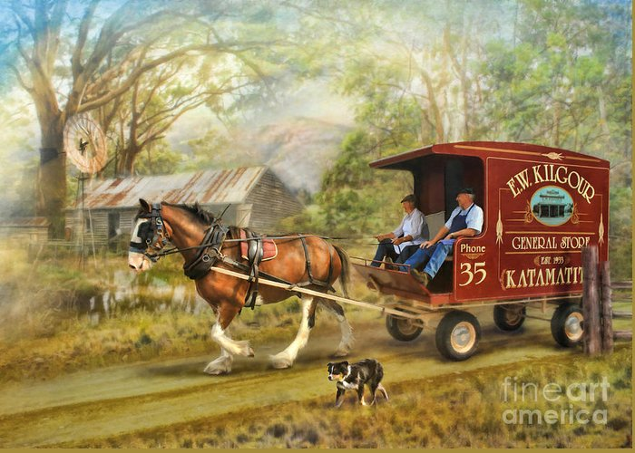 Horse And Cart Greeting Card featuring the photograph Rural Deliveries by Trudi Simmonds