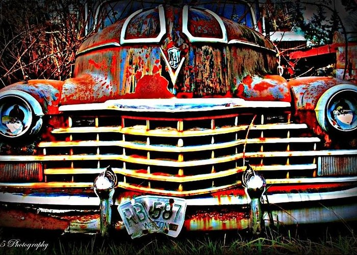 Old Greeting Card featuring the photograph Rust In Peace by Tammy Caruthers