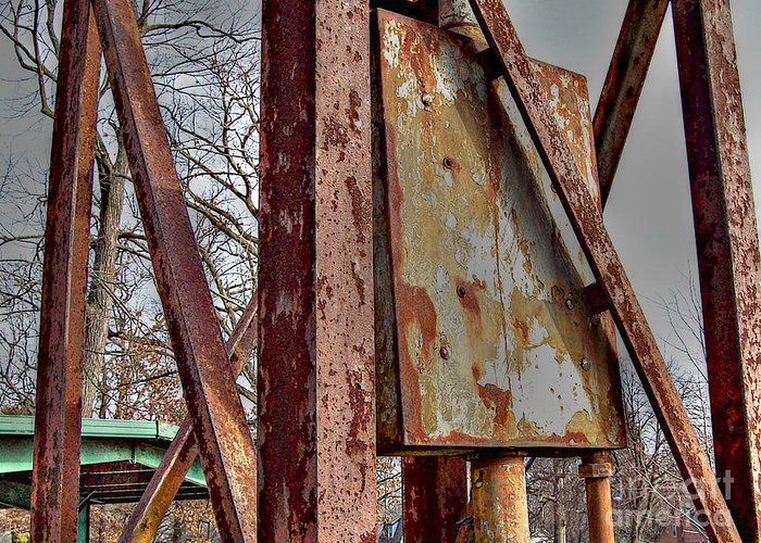 Mj Olsen Greeting Card featuring the photograph Rust by MJ Olsen