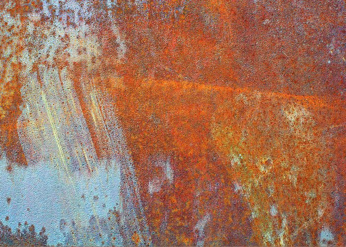 Aging Process Greeting Card featuring the photograph Rust On A Metal Surface by Rob Atkins