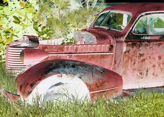 Rust Greeting Card featuring the photograph Rusted Truck 4 by Dietrich ralph Katz