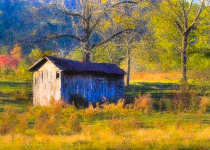 North Greeting Card featuring the photograph Rustic Autumn Landscape In North Georgia by Mark E Tisdale