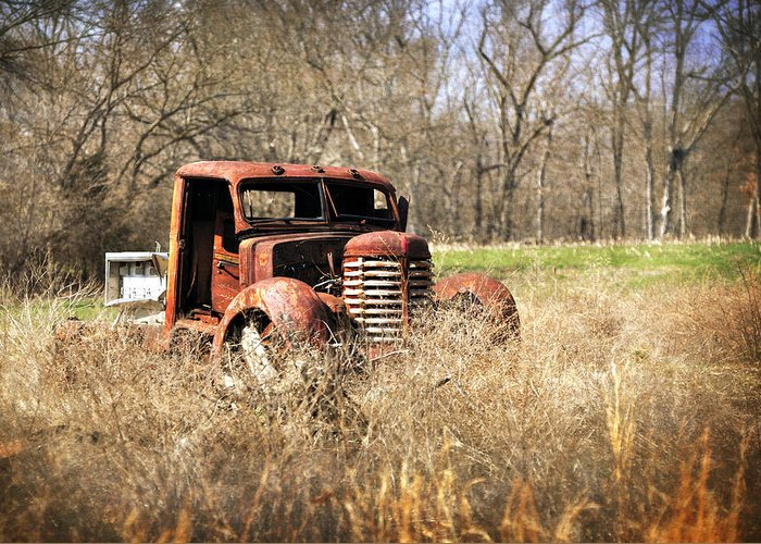 Truck Greeting Card featuring the photograph Rusting Away by Marty Koch