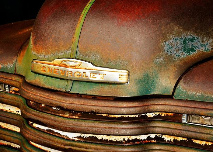 Antique Cars Greeting Card featuring the photograph Rusty Gold by Marty Koch