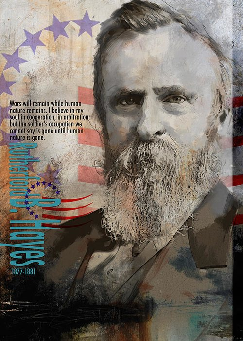 Rutherford B. Hayes Greeting Card featuring the painting Rutherford B. Hayes by Corporate Art Task Force