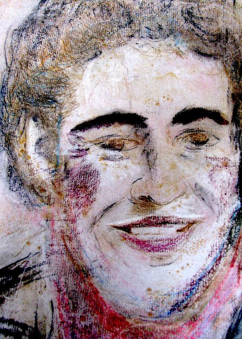 Bruce Greeting Card featuring the painting Ruthie's Bruce by Melinda Saminski