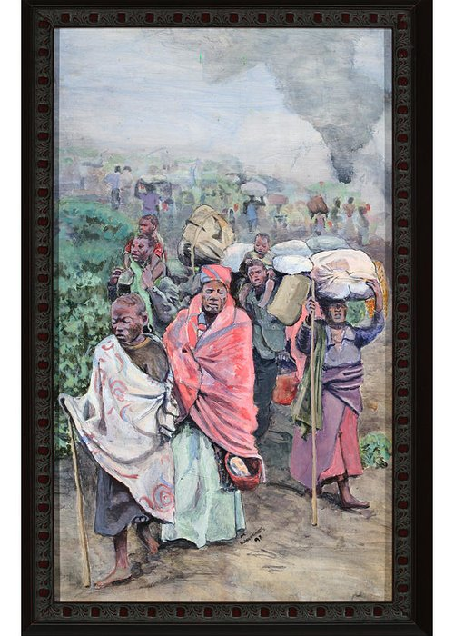 Walrath Greeting Card featuring the painting Rwanda by Mike Walrath