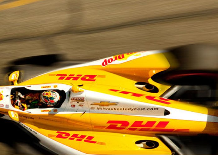 Long Beach Ca Greeting Card featuring the photograph Ryan Hunter-reay by Denise Dube