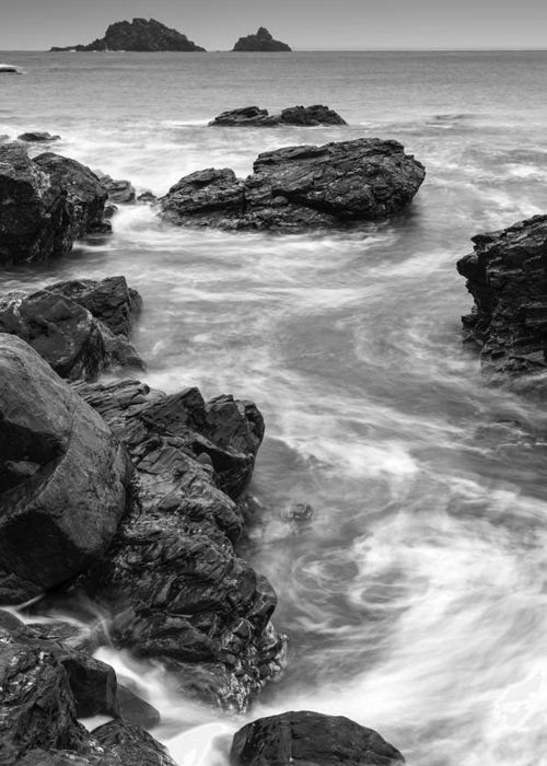 Sea Greeting Card featuring the photograph S by Matthew Gibson