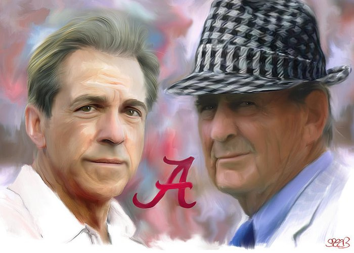 Mark Spears Greeting Card featuring the painting Saban And Bear by Mark Spears