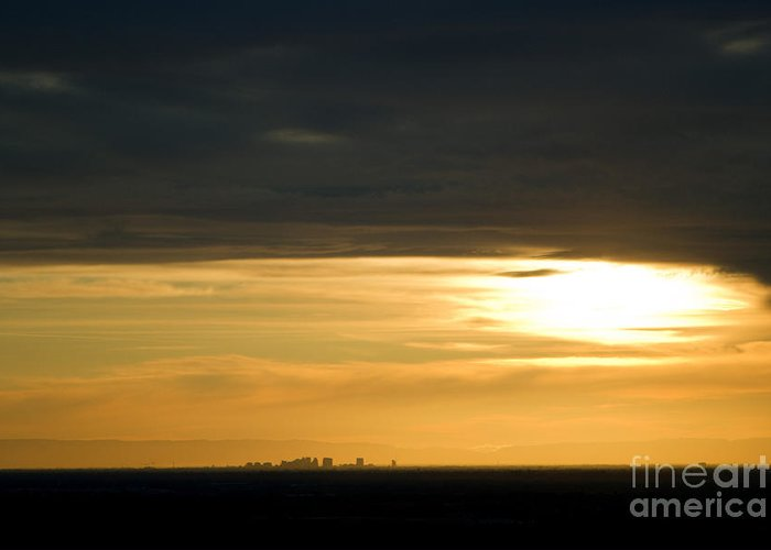 Photography Greeting Card featuring the photograph Saccity Sunset by Joshua Pocus