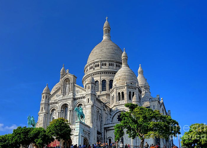 Paris Greeting Card featuring the photograph Sacre Coeur Basilica by Olivier Le Queinec