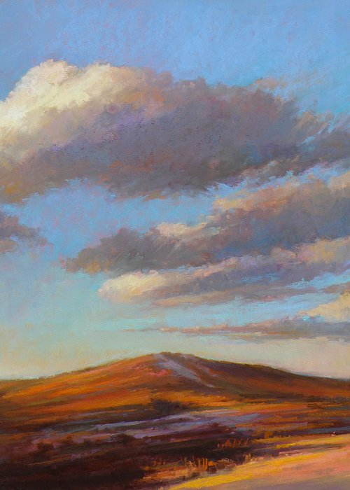 Sand Dune Greeting Card featuring the painting Sacred Dune by Ed Chesnovitch