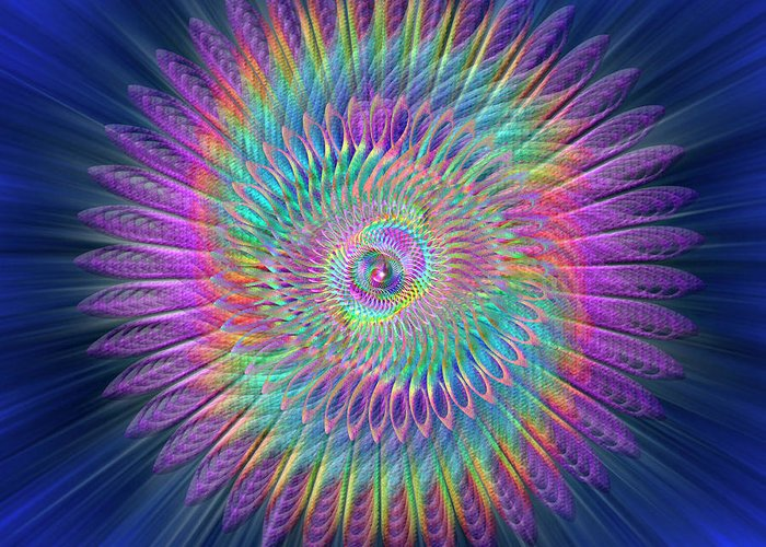 Endre Greeting Card featuring the digital art Sacred Geometry 87 by Endre Balogh